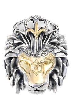 Konstantino 'Minos' Lion Head Pendant available at #Nordstrom