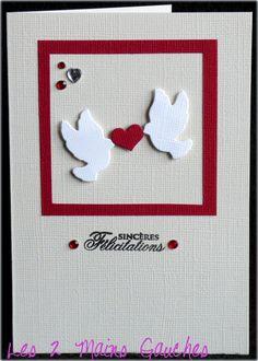 carte de félicitations avec colombes et coeur                                                                                                                                                     Plus