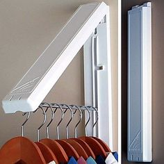 QuikCloset™ Wall-Mounted Garment Rack (just 1 side, without long rod) $39.99
