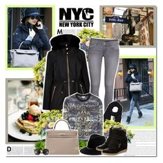 """Miranda Kerr in New York!!"" by lilly-2711 ❤ liked on Polyvore featuring Kerr®, Avenue, Ted Baker, H&M, Rick Owens, Kenzo, Isabel Marant, Hermès, Miu Miu and mirandakerr"