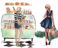 <p>I just discovered the charming fashion illustrations of New York based artist Inslee Haynes. Always drawing very stylish ladies in her very own style, all of her watercolor illustrations remind me