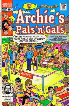 GCD :: Cover :: Archie's Pals 'n' Gals #209 Betty And Veronica, Back In My Day, High School Girls, Archie Comics, Dads, Reading, Fathers, Reading Books, Daddy