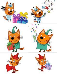 """Купить """"Три кота"""" из фетра - 4 варианта - Новый Год ..."""