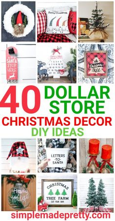 Discover the Best Dollar Tree Christmas Decor Ideas and Easy DIY Christmas decorations! These festive craft ideas and DIY decor for Christmas are from the Dolla Navidad Simple, Navidad Diy, Dollar Tree Christmas, Merry Christmas, Christmas 2019, Christmas Holidays, Diy Christmas Decorations Easy, Holiday Crafts, Holiday Ideas