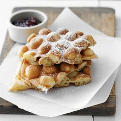 Aaand now I want waffles. Waffles made by Nordic Ware Egg Waffle Pan, available at Williams-Sonoma, $49.