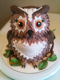 owl cake - I SO want this!