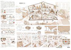 戀水桜花(東京電機大学)、堀 聖弘(東京電機大学大学院) Japan Architecture, Architecture Student, Japan Design, Presentation Layout, Architecture Visualization, Software, Plate, Architecture, Japanese Design