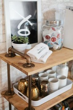 DIY Coffee Bar Cart,