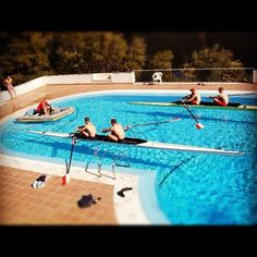 Rowing in a pool! #rowing
