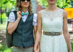 "This bride who knew ""vest"" is absolutely best: 