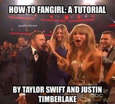 How to fan girl