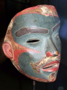 Old mask, private collection at UBC museum