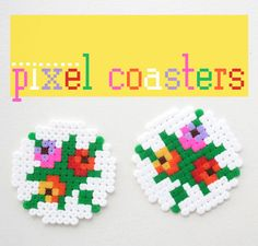 Pixel Coasters Using Hama Beads | 50 Tiny And Adorable DIY Stocking Stuffers
