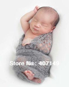 ganchillo mohair envuelve fotografía recién nacido envuelve regalo baby shower recién nacido accesorios foto en Mantas para Bebé de Moda y Complementos en AliExpress.com | Alibaba Group