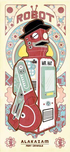 A arte da cor! » Vintage Robot by fery criwuls
