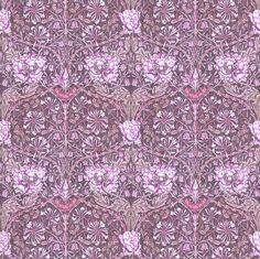 Morris tulip ruby red fabric by keweenawchris on Spoonflower - custom fabric