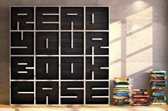 Read your book case! =P