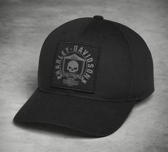 8ce84f2103f Show your love for the ride in our Skull Shield Patch Cap. Built from 100