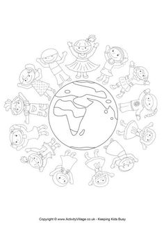 World Thinking Day is celebrated by Girl Guides and Girl Scouts all over the world on February each year. World Thinking Day Colouring Page 2