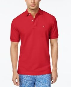 Tommy Hilfiger Men's Classic-Fit Ivy Polo - Red 3X