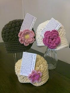 crochet newsboy hats- love these! Just have to get the crocheting thing down first!