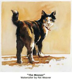 """The Mouser"" ~ Watercolor by Pat Weaver (Tutorial on Daniel Smith Website)"