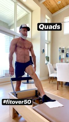 Gym Workout Tips, Fitness Workout For Women, No Equipment Workout, Workout Videos, Mens Fitness, Fitness Tips, Fitness Motivation, Quad Exercises, Pilates Reformer Exercises