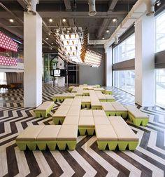 Bangkok University Student Lounge student lounge interior decor furniture design