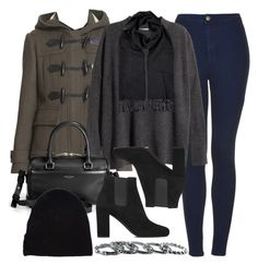 """""""Style #9642"""" by vany-alvarado ❤ liked on Polyvore featuring Topshop, Burberry, H&M, Yves Saint Laurent and Southwest Moon"""