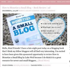 A new blog post is up now! This one shares info on a new #blogging book from #LukeWeil. Catch up on this post and more on http://ift.tt/1M5K6bO - click the link in my bio!