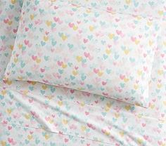 Find kids bed sheets including organic sheets at Pottery Barn Kids. Shop kids sheets in fun prints and colors for twin and full beds. Kids Bed Sheets, Beige Bed Linen, Bedding Basics, Twin Sheet Sets, Linen Bedding, Bed Linens, Bedding Sets, Grey Comforter, Bedding Decor