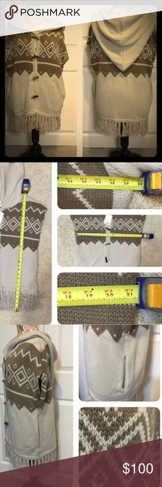 Urban Outfitter Tribal Hooded Sweater Vest NWT Great sweater and price, measurements in picture listing. Size medium, from Urban Outfiters! Runs a bit big wish it fit..had to reposh, would say true large. Pic credits @forever30 Urban Outfitters Sweaters