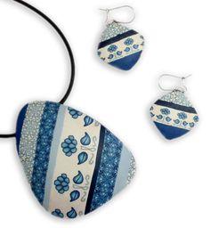 Delft Shard Pendant with Julie Eakes #craftartedu