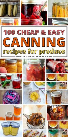 Here are over 100 best easy and delicious canning recipes for summer produce. From vegetables to fruits and even salsas you'll find a delicious recipe to can just about any fruit and vegetable in this ultimate collection of canning recipes.