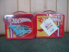 """WOW! Great collectible for the Hot Wheels fan! Hallmark's School Days Lunch Box features HOT WHEELs- 6"""" X 5"""", factory sealed, numbered edition. Picture shows front & back of lunch box. Ask me about my other School Days Lunch Boxes. $33 on GoAntiques"""