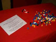 Interactive Worship Station: June 2004. I want to do a Lego Sunday.  I love the idea of together we build
