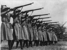 Women's battalion, Second Sino Japanese War.