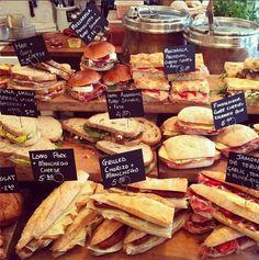 Fernandez & Wells - 43 Lexington Street, Six Independent Cafes - Sandwich bar - # Sandwich Bar, Roast Beef Sandwich, Deli Sandwiches, Sandwich Shops, Sandwich Ideas, Deli Food, Cafe Food, Food Displays, Bakery Design