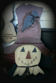Primitive Wood Hanging Scarecrow (Made in USA) Más Rustic Wood Crafts, Fall Wood Crafts, Halloween Wood Crafts, Primitive Wood Crafts, Scarecrow Crafts, Primitive Fall, Autumn Crafts, Primitive Christmas, Thanksgiving Crafts