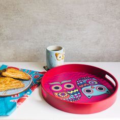 Buy The Chumbak Owl Round Tray Online - Chumbak