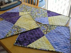 Create Placemats | quilted placemats | Things to make