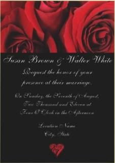 Elegant Red Rose Wedding Invitation!   #red #rose #wedding #invitation
