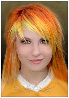 Yellow fringe. Hayley Williams