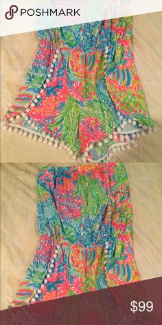 NWT Lilly Pulitzer Daisy Romper In 'lovers coral' Lilly Pulitzer Pants Jumpsuits & Rompers