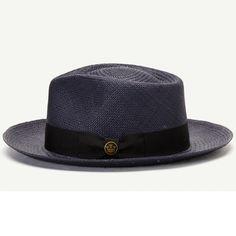26c55d7906cf6 Big John Straw Fedora Hat Tan American Made Left Side Wide Brim Fedora