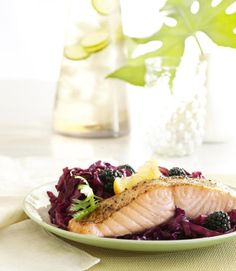 The simple-prep broiled salmon rejuvenates skin with omega-3 fatty acids and protein.