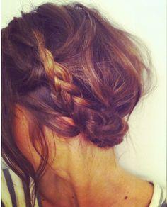 Messy Braided Crown #hair