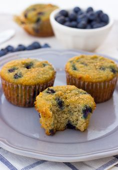 Coconut Flour Blueberry Protein Muffins {Grain-Free, Paleo} | Meaningful Eats