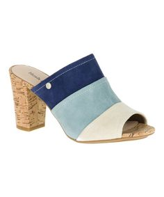 Another great find on #zulily! Navy Mora Malia Suede Mule #zulilyfinds