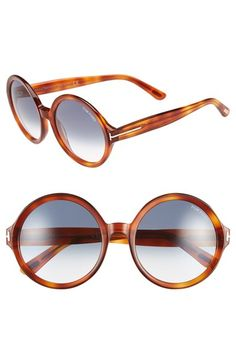 Tom Ford 'Juliet' 55mm Round Glasses available at #Nordstrom